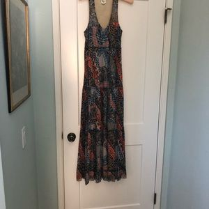 Anthropology Maxi Dress by Western Wear M Colorful
